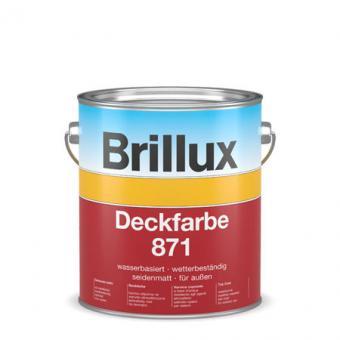 Brillux Deckfarbe 871 10,0 Lt schwarz 10,0 Lt | schwarz